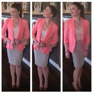 DVF Diane von Furstenburg Pink Blazer. Sz 10. FLAW